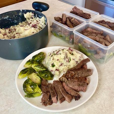 Teriyaki Steak & Garlic Mashed Meal Prep