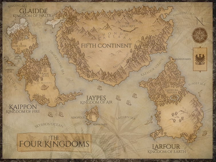 Four Kingdoms World Map Updated 6.2.21 p
