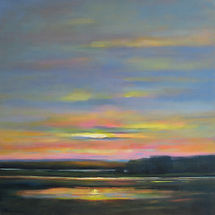 6. Setting Sun over Marsh 24x24.jpg