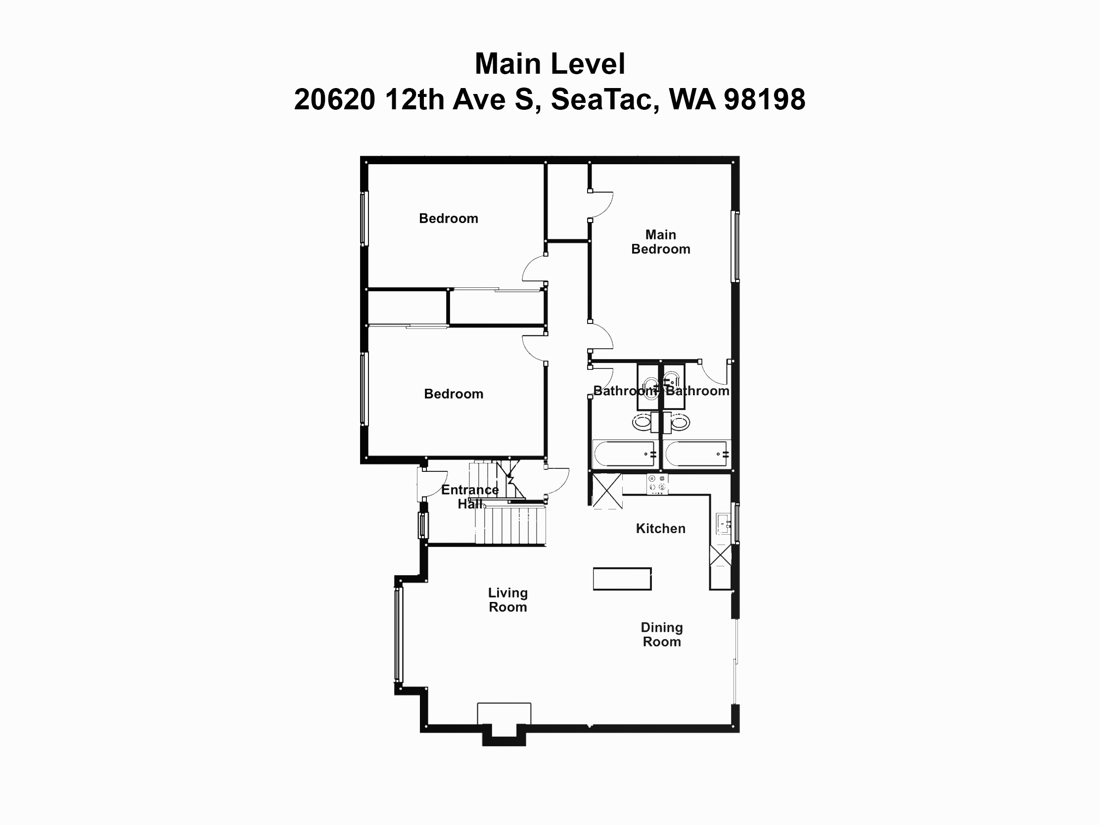 2-Main Level 20620 12th Ave S, SeaTac, W