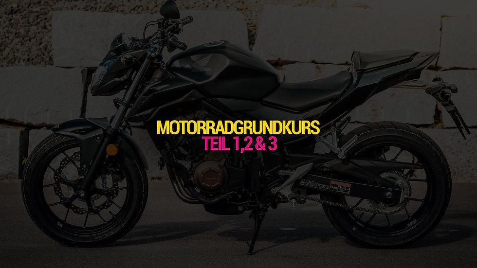 Motorradgrundkurs Teil 1, 2 & 3