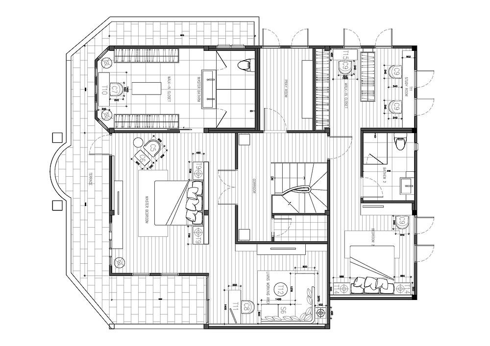 2nd Floor Interior Furniture Layout