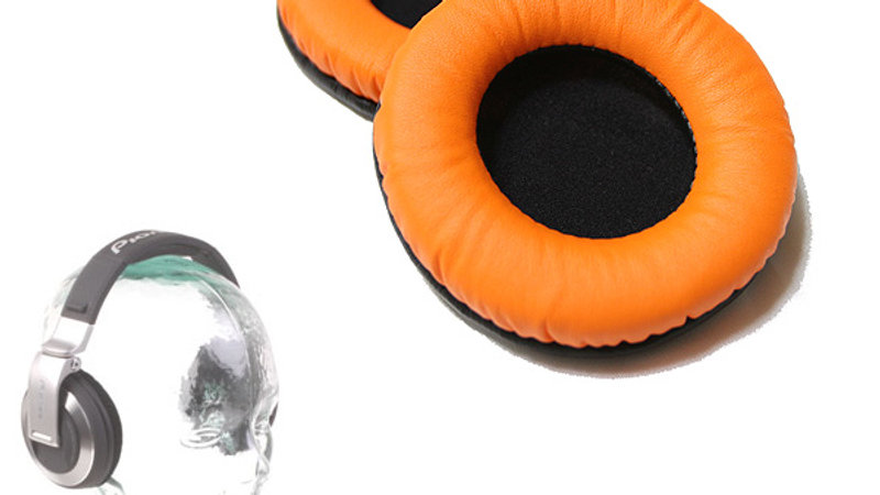 Pro-group(プロ・グループ) / 交換用イヤーパッド フェイクレザー(Orange) 【Pioneer(パイオニア) HDJ対応】 1ペア(両耳)