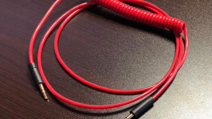 Pro-group(プロ・グループ) / ヘッドホン交換ケーブル (カールコード仕様 / 長さ 約1.2m / 3.5mm-3.5mm ステレオミニプラグ)