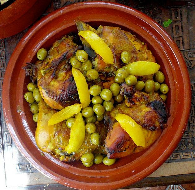 Tajine de poulets aux olives
