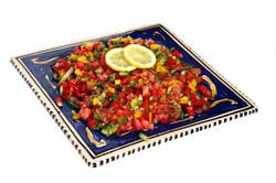 salade de tomate et trois poivrons