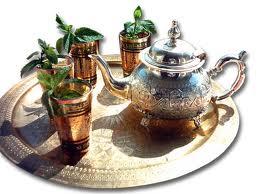 plateau thé à la menthe