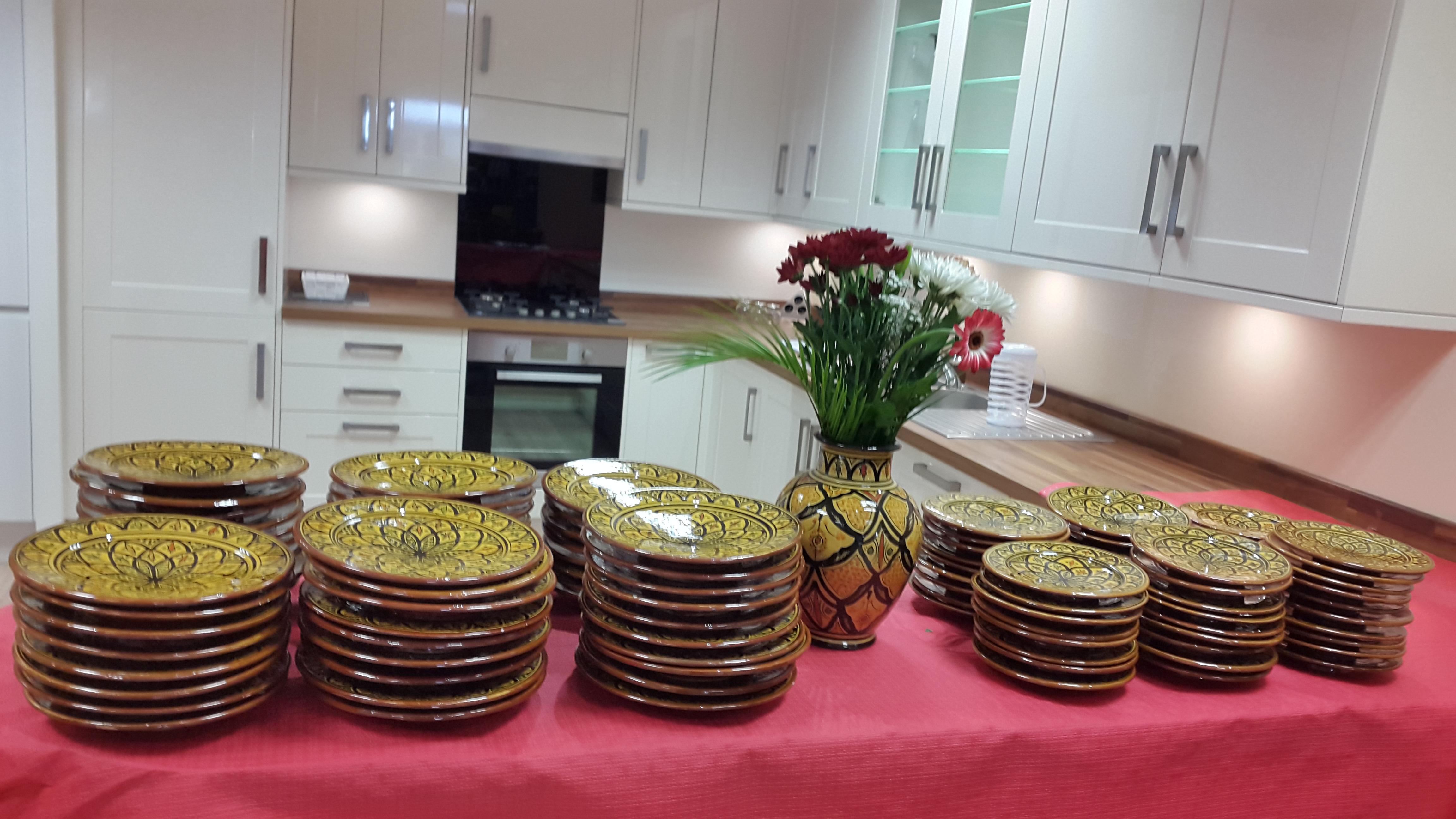 vaisselle marocaine à disposition