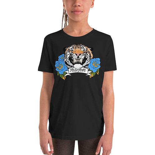 Girl's Tiger & Roses T-Shirt