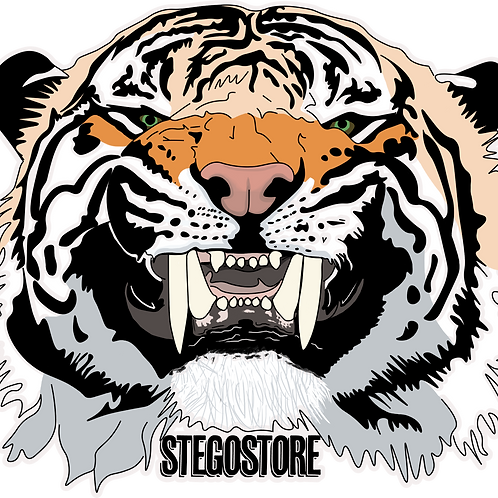 Stegostore Tiger Sticker
