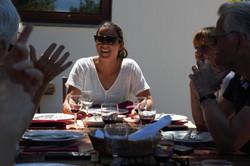 Enjoying good food in good company
