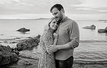 black & white portrait of a couple
