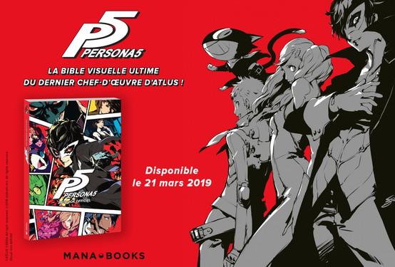 L'artbook Persona5 pour le mois prochain en France