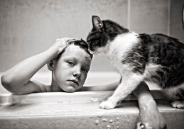 Bath with a Cat
