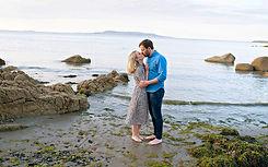 portrait of a couple on a beach