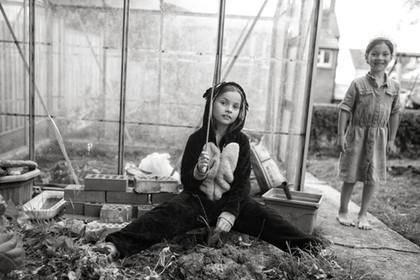 Lu in the garden