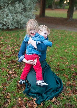 mum hugging her toddler son in a Dublin park