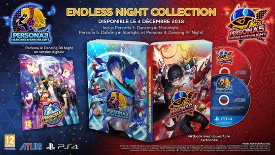 Premières précommandes pour le pack Persona Endless Night Collection