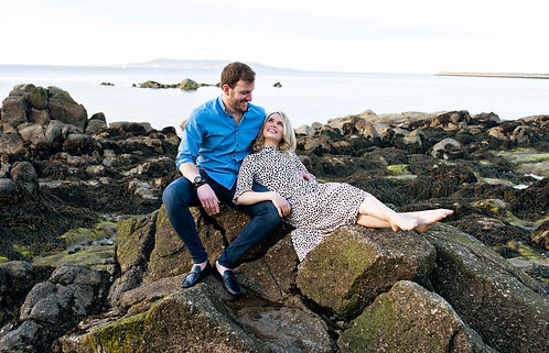 couples portrait on the beach at Seapoint Dublin