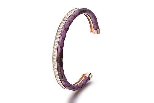 PURPLE PYTHON BANGLE ROSE GOLD