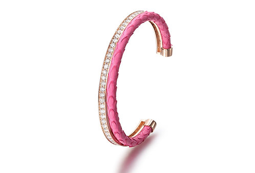 PINK PYTHON BANGLE ROSE G