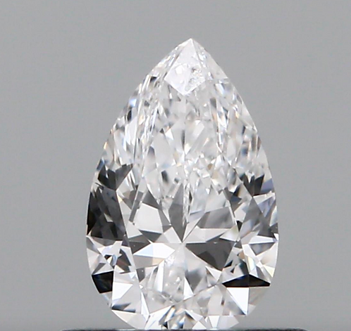 0.40 carat, Color Grade D, VS1 Clarity, Pear Shape, GIA Certified
