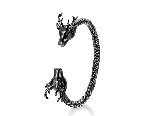 BLACK DEER BANGLE SILVER