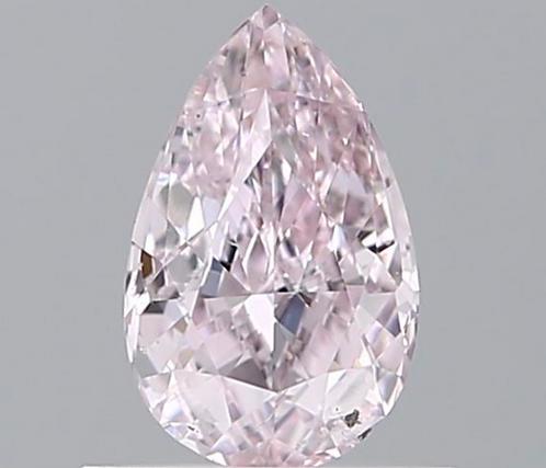 0.5 carat, Fancy Light Purplish Pink, Clarity SI2 , Pear Shape, GIA Certified