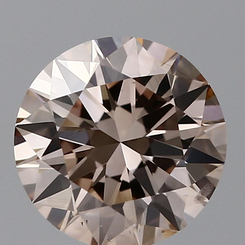 1.2 carat, Fancy Ligh Pinkish Brown, SI1, Round, GIA Certified