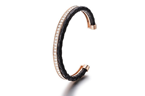 BLACK PYTHON BANGLE ROSE GOLD
