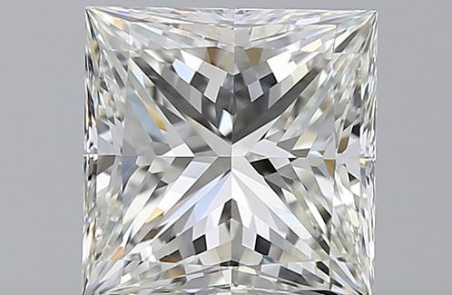 3.2 carat, Color Grade I, VVS2 Clarity, Princess Cut, GIA Certified