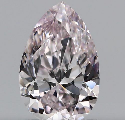 0.82 carat, Fancy Very Light Pink, Clarity VS2 , Pear Shape, GIA Certified