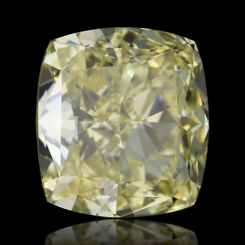 1.01 carat, Fancy Yellow, VVS2 Clarity, Cushion shape, GIA certified