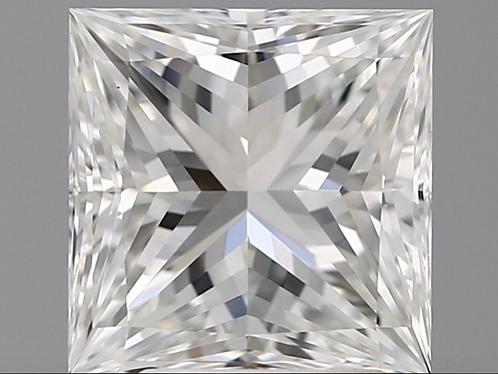3.00 carat, Color Grade F, VS1 Clarity, Princess Cut, GIA Certified