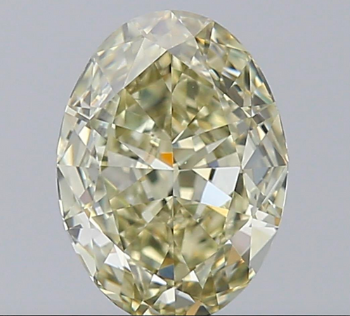 2.03 carat, Fancy Yellow, Clarity VS1, Oval, GIA Certified