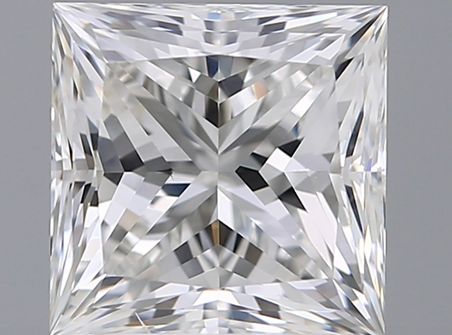 2.6 carat, Color Grade F, VS2 Clarity, Princess Cut, GIA Certified