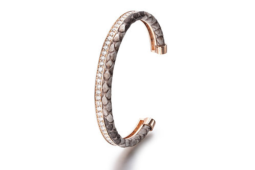 NATURAL PYTHON BANGLE ROSE GOLD
