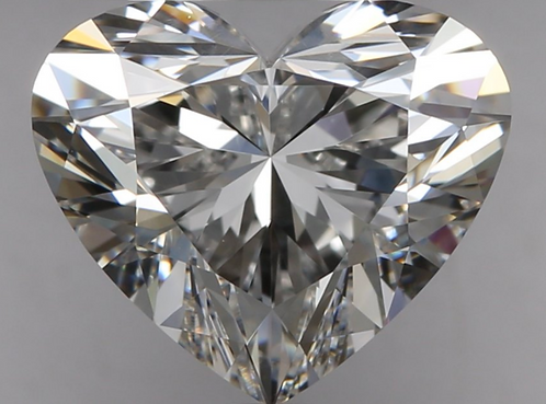 2.07 carat, Color Grade F, IF Clarity, Heart Shape, GIA Certified
