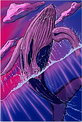Bisexuwhale Whale Card - Blank Inside