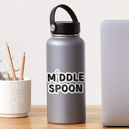 "Middle Spoon 4"" Sticker"