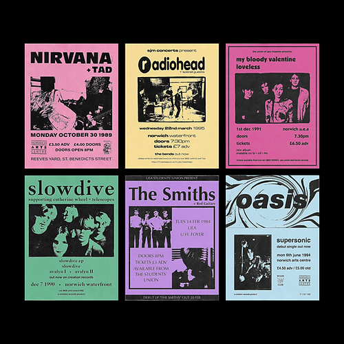 NORWICH COMMEMORATIVE GIG POSTERS
