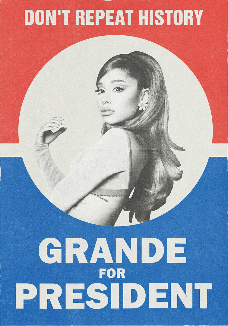 ARIANA GRANDE SELF-INITIATED 'POSITIONS' POSTER CONCEPT