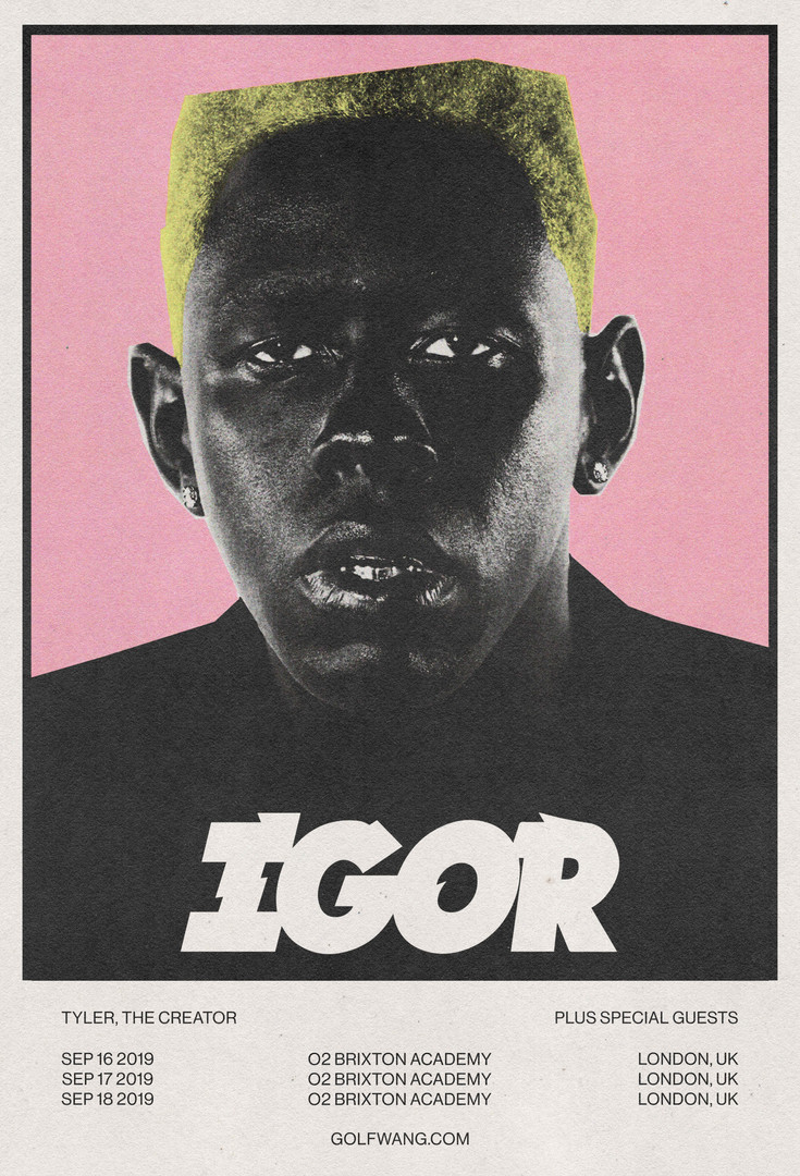TYLER, THE CREATOR SHOW POSTER CONCEPT