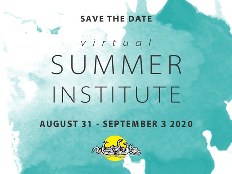 2020 Summer Institute to be held online