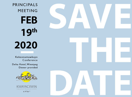 Save the Date: Principals Meeting