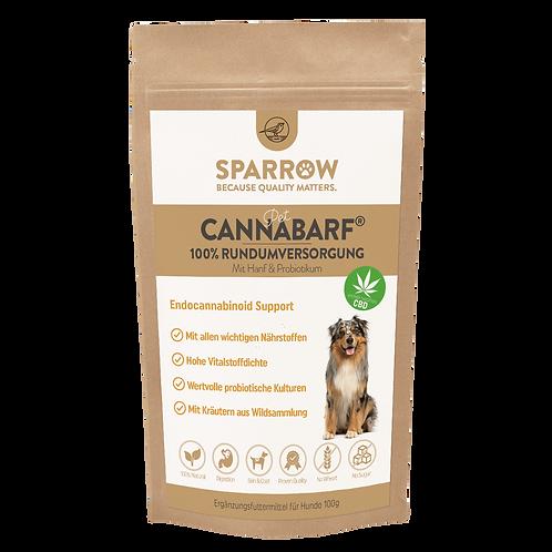 SPARROW PET CANNABARF® FÜR HUNDE 100% natürliche Rundumversorgung mit Hanf & Pro