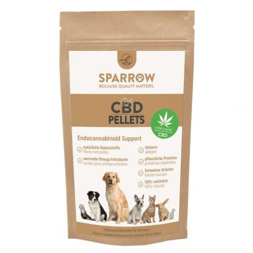 SPARROW Pet Hanfpellets Mit CBD Für Heimtiere