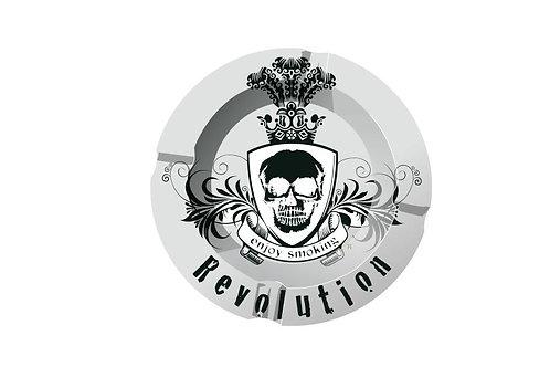 Metall Aschenbecher Revolution - Black