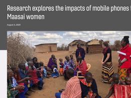 Mobile phones & Maasai women, VT News, August 2020