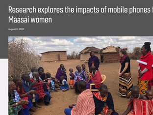Mobile phones & Maasai women, VT News, August 2020